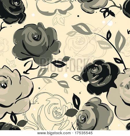 Abstrakte Eleganz nahtlose Blümchenmuster. Schöne Blume Vektor-Illustration-Textur mit rose