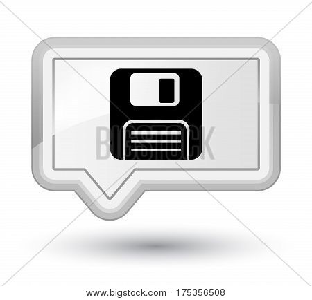 Floppy Disk Icon Prime White Banner Button