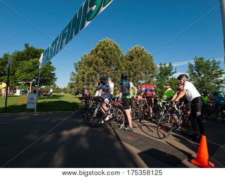 Cyclists Race
