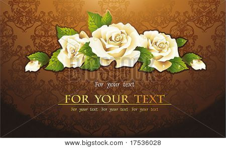 Vector seamless background Floral pattern, Damask wallpaper. Retro decor illustration with roses.