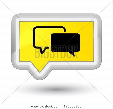 Testimonials Icon Prime Yellow Banner Button