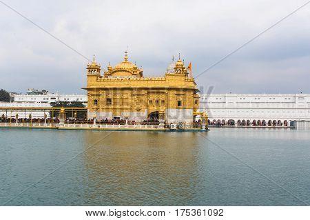 the Harimandir Sahib at the Golden temple complex, Amritsar - India