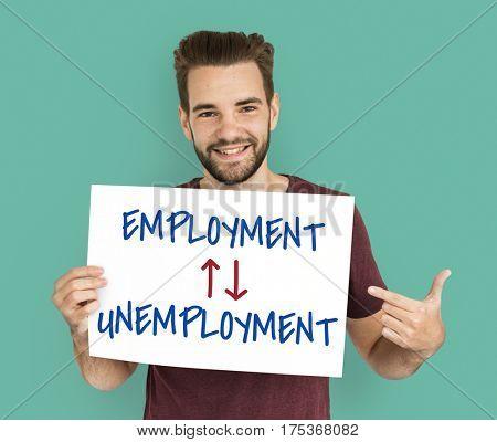 Antonyms Employment Unemployment Arrow Graphics