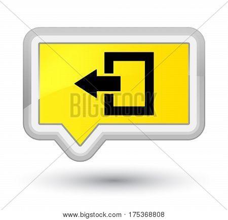Logout Icon Prime Yellow Banner Button