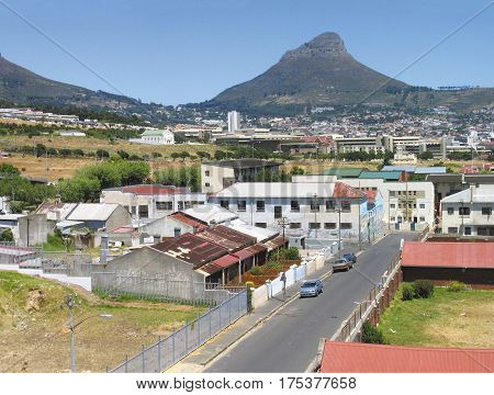 VIEW OF WOODSTOCK, CAPE TOWN SOUTH AFRICA 15dety