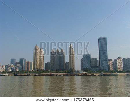 Wuhan city on the Yangtze River in China