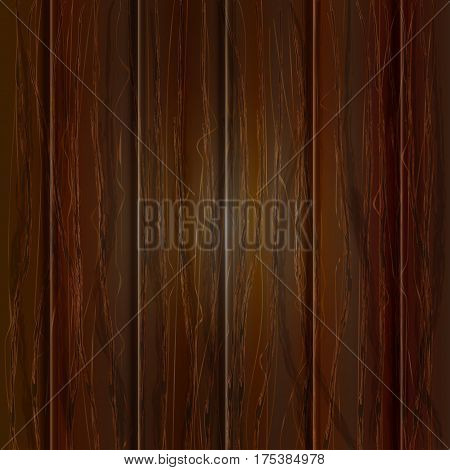 Wood texture, vector  illustration. Natural Dark Wooden Background.