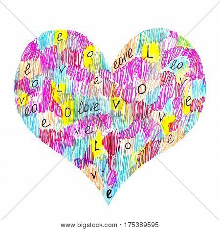 Abstract color heart symbol with