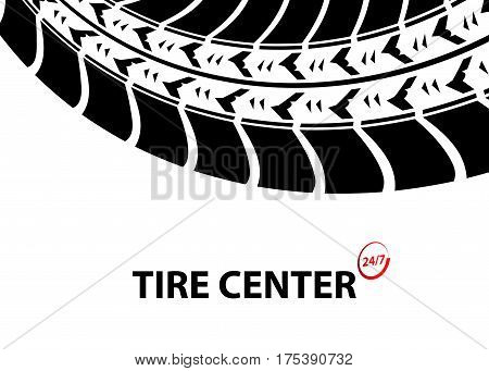 tire shop and service background, vector illustration, eps10