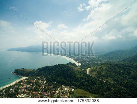 Aerial View of Maresias Beach, Sao Sebastiao, Sao Paulo, Brazil