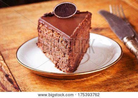 Amazing moist chocolate cake, ready to eat