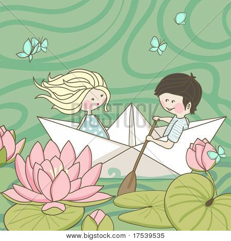 sailing on the lotus lake