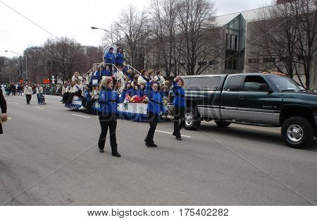 Chicago Saint Patricks Day Parade Irish Dancers March 15, 2008