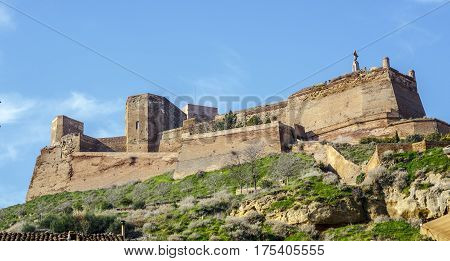 The Templar castle of Monzon. Of Arab origin (10th century) Huesca Aragon Spain