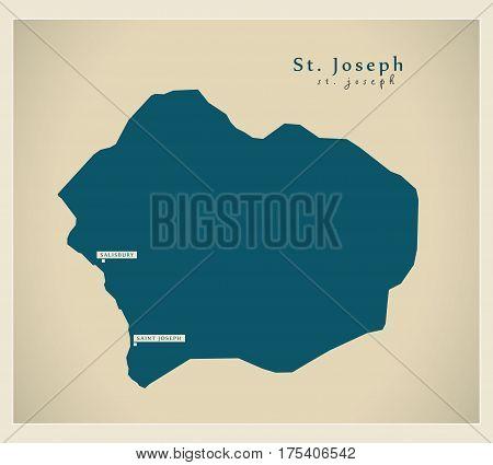 Modern Map - St. Joseph Dm Illustration Silhouette