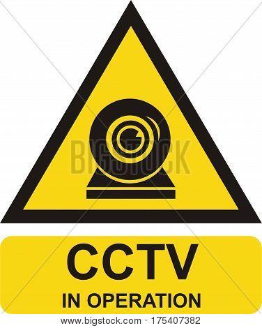Video surveillance sign. flat vector illustration m