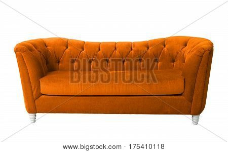 A brown furniture isolated with clipping path