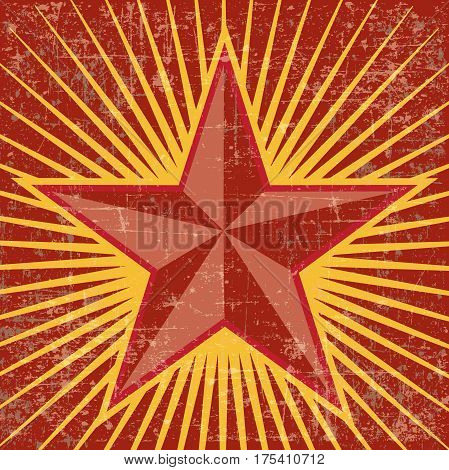 RED STAR VECTOR BACKGROUND, COMMUNISM ILLUSTRATION WALLPAPER