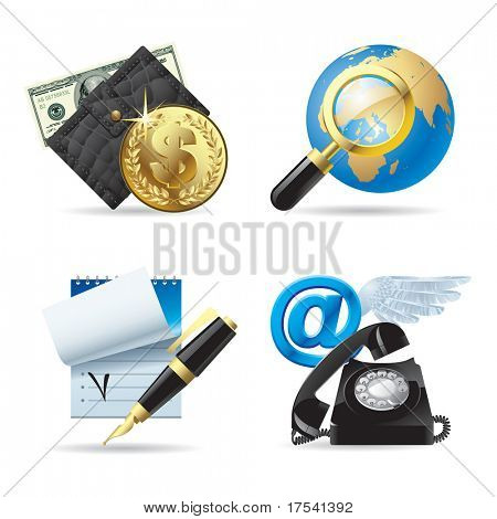 Vector set of computer & web icons I