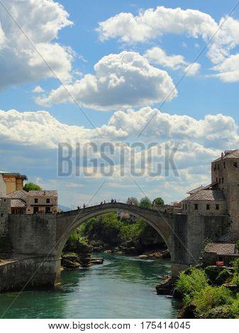 Mostar Bridge Landscape - Mostar, Bosnia & Herzegovina