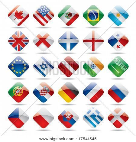 Vector set world flag icons 1