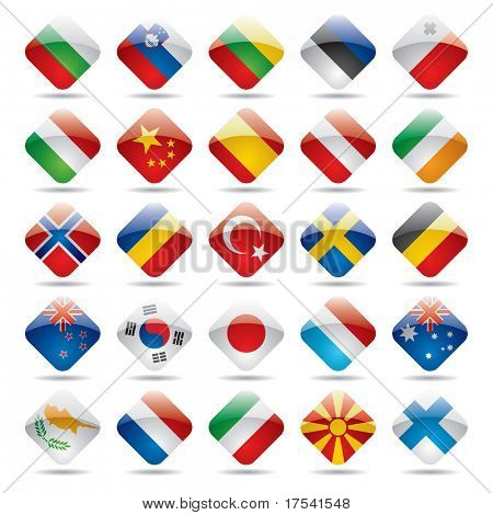 Vector set world flag icons 2