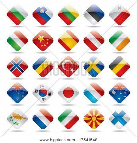 Vector set world flag icons 2
