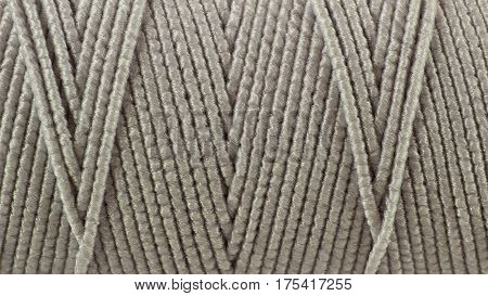 Closeup of the texture of threads on the coil