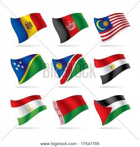 Vector set of world flags 6