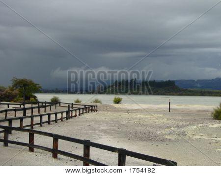 Sulphur Bay Under Stormy Sky