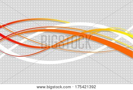 Abstract wavy background. Vector illustration. Wavy lines on a dotted gray background