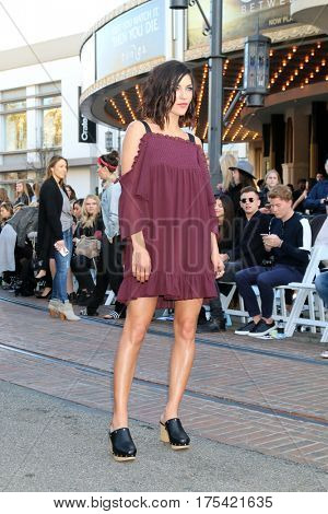 LOS ANGELES - FEB 4:  Jessica Szohr at the Rebecca Minkoff's