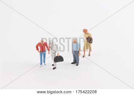 Miniature People On The Board