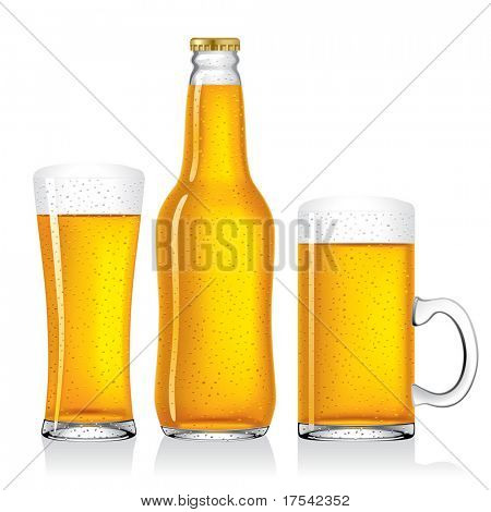 Vector image of beer collection