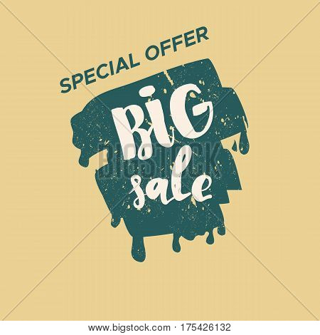 Sale Blob Vintage Color Stickers Graphics. Vector Stamp.