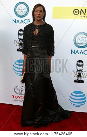 LOS ANGELES - FEB 11:  Margot Lee Shetterly at the 48th NAACP Image Awards Arrivals at Pasadena Conference Center on February 11, 2017 in Pasadena, CA