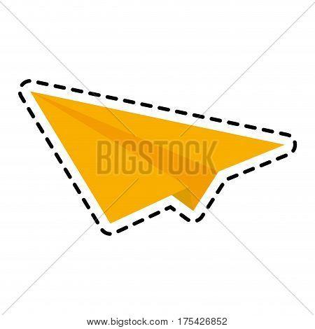 paper plane icon image vector illustration design