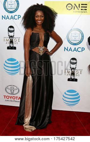 LOS ANGELES - FEB 11:  Jillian Reeves at the 48th NAACP Image Awards Arrivals at Pasadena Conference Center on February 11, 2017 in Pasadena, CA