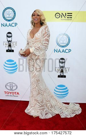 LOS ANGELES - FEB 11:  Tami Roman at the 48th NAACP Image Awards Arrivals at Pasadena Conference Center on February 11, 2017 in Pasadena, CA