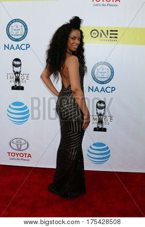 LOS ANGELES - FEB 11:  Susan Kelechi Watson at the 48th NAACP Image Awards Arrivals at Pasadena Conference Center on February 11, 2017 in Pasadena, CA