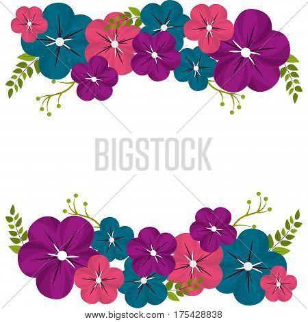 beautiful spring flowers icon, vector illustration design