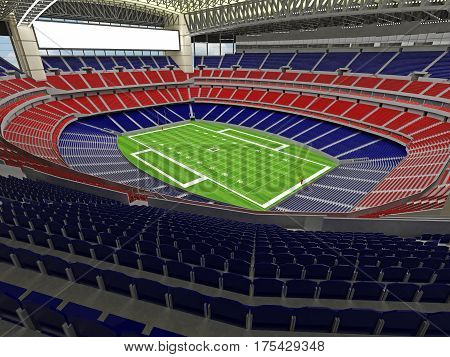 3D Render Of Modern American Football Super Bowl Lookalike Stadium