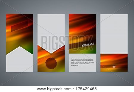 Set Templates Vertical Flyer Layout Hot Glow Effect02