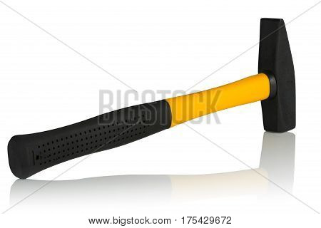 machinist hammer handle made of fiberglass on a white background