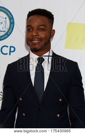 LOS ANGELES - FEB 11:  Stephan James at the 48th NAACP Image Awards Arrivals at Pasadena Civic Auditorium on February 11, 2017 in Pasadena, CA