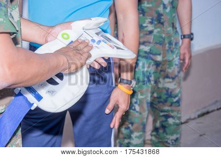 military test cervical hard callar before use safe cervical injury case