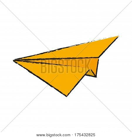 paperplane icon over white bacjground. vector illustration