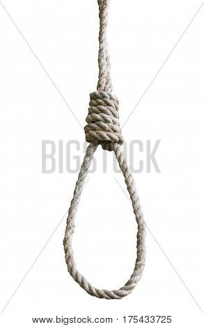 gallows isolated on white background. background kill