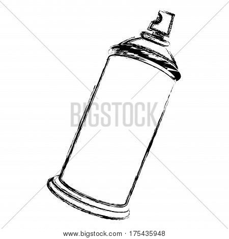 blurred side view silhouette aerosol spray bottle can icon vector illustration