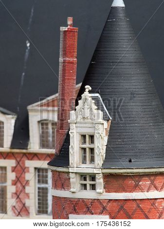 Detail Of Model Manor House